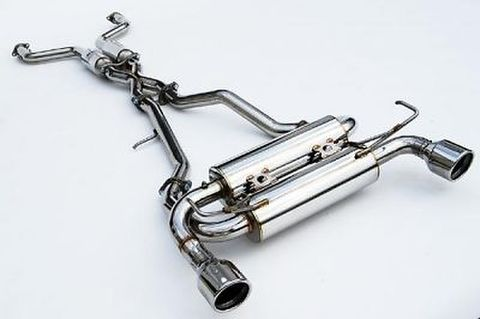 Infiniti インフィニティ FX35/FX37 (2/4WD) 2009- Invidia Rolled Stainless Steel Tip Cat-Back Exhaust GEMINI ステンレスエンドマフラー
