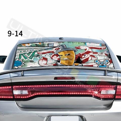 グラフィック デカール ステッカー 車体用 / ダッジ チャージャー / リアウィンドウ ボムスキンステッカー