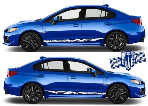 グラフィック デカール ステッカー 車体用 / スバル インプレッサ / カスタム サイドドア ストライプ・ステッカー