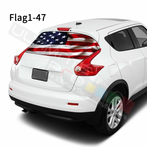 グラフィック デカール ステッカー 車体用 / 日産 ジューク 2020 / リアウィンドウ フラッグデザイン