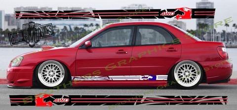 グラフィック デカール ステッカー 車体用 / スバル インプレッサ / 2カラー ストライプ・ステッカー