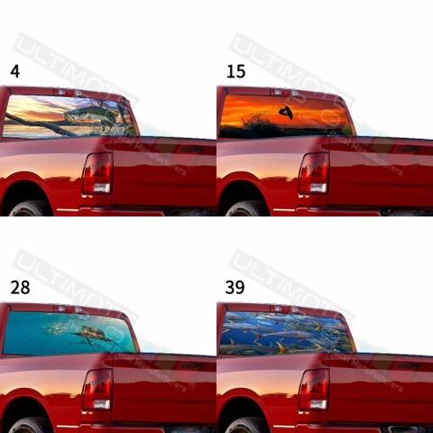 グラフィック デカール ステッカー 車体用 / ダッジ ラム / リアウィンドウ フィッシングデザイン