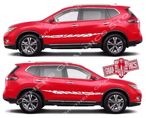 グラフィック デカール ステッカー 車体用 / 日産 エクストレイル / 2X ストライプ・ステッカー