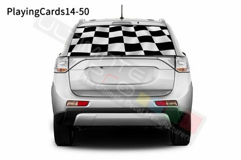 グラフィック デカール ステッカー 車体用 / 三菱 アウトランダー / リアウィンドウ トランプステッカー
