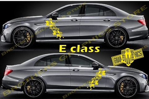 グラフィック デカール ステッカー 車体用 / メルセデスベンツ Eクラス / 2X ストライプ・ステッカー