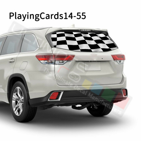 グラフィック デカール ステッカー 車体用 / トヨタ ハイランダー 2016 / リアウィンドウ トランプステッカー