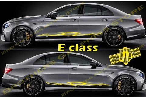 グラフィック デカール ステッカー 車体用 / メルセデスベンツ Eクラス / ストライプ・ステッカー / 2