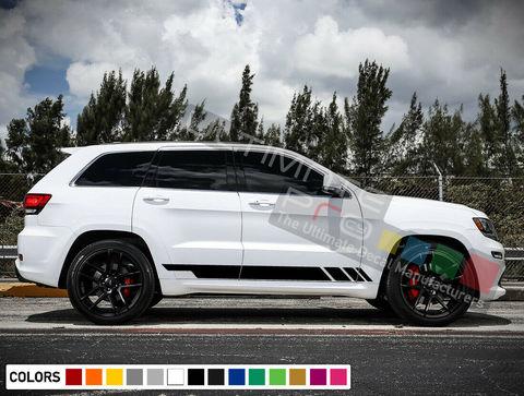グラフィック デカール ステッカー 車体用 / ジープ グランドチェロキー 2011-2019 / サイドドア ストライプステッカー