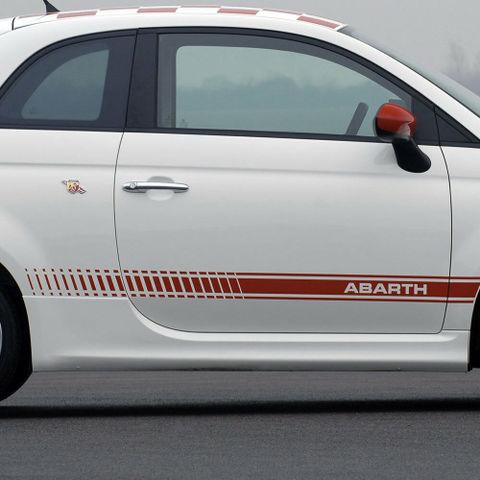 グラフィック デカール ステッカー 車体用 / フィアット 500 アバルト 2007-2014 / ストライプ サイドグラフィックデカール