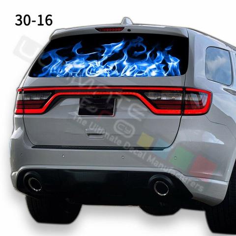 グラフィック デカール ステッカー 車体用 / ダッジ デュランゴ 2020 / リアウィンドウ フレイムデザイン