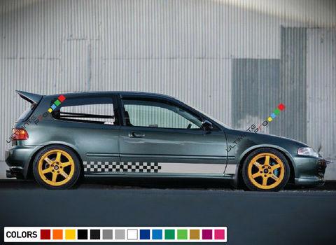 グラフィック デカール ステッカー 車体用 / ホンダ シビック 1995 1994 1996 / ストライプステッカー