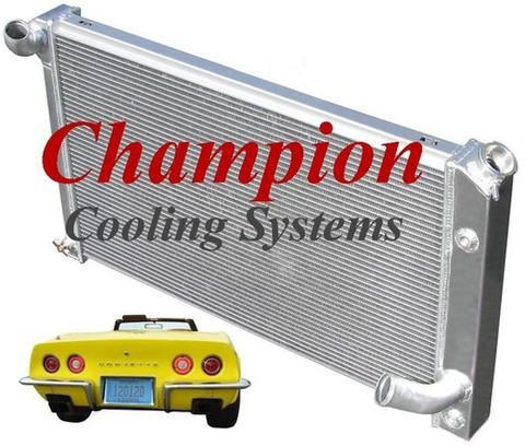 73-75 コルベット C3 Champion 2層 アルミ ラジエター  EC478