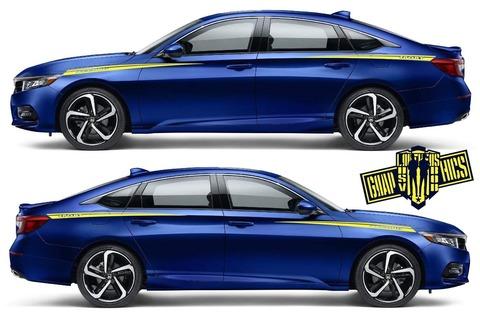 グラフィック デカール ステッカー 車体用 / ホンダ アコード / カスタム サイドドア ストライプ・ステッカー
