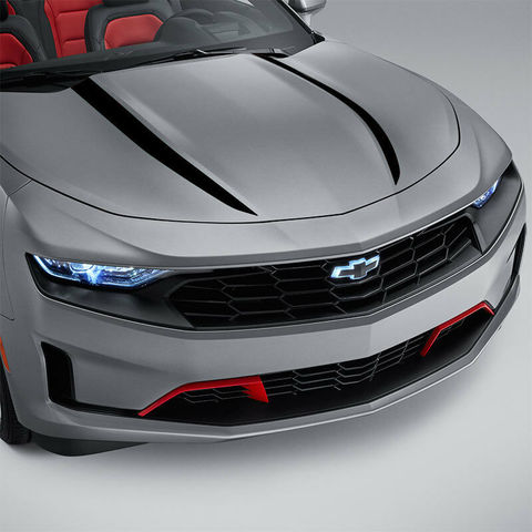 グラフィック デカール ステッカー 車体用 / シボレー カマロ 2019 / フードデカールパッケージクモストライプ ビニールグラフィック