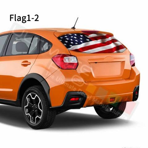 グラフィック デカール ステッカー 車体用 / スバル XV 2017 2018 / リアウィンドウ フラッグデザイン
