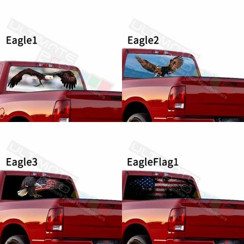 グラフィック デカール ステッカー 車体用 / ダッジ ラム 2020 / リアウィンドウ イーグルスデザイン