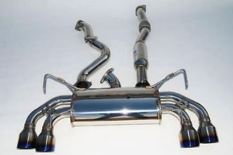 Subaru スバル WRX STI  5ドア 2008-2014 Invidia Rolled Stainless Steel Tip CAT-BACK EXHAUST Q300 マフラー ステンレスエンド