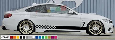 グラフィック デカール ステッカー 車体用 / BMW M4 2008 2009 2010 2011 2012 2013 2014 / サイドドア ストライプデカール