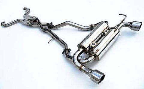 Infiniti インフィニティ FX35 2003-2008 (FX45 03-05) Invidia Rolled Stainless Steel Tip Cat-Back Exhaust GEMINI ステンレスエンドマフラー