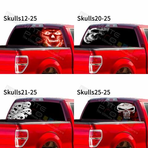 グラフィック デカール ステッカー 車体用 / フォード F150 2019 2020 / リアウィンドウ スカルデザイン