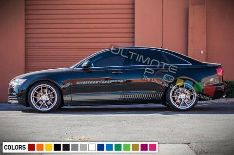 グラフィック デカール ステッカー 車体用 / アウディ A6 2017 2018 2019 2020 / ラインステッカー ストライプキット