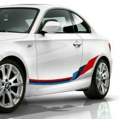 グラフィック デカール ステッカー 車体用 / BMW 1シリーズ E82 2004-2013 / クーペM パフォーマンス サイドストライプグラフィックス