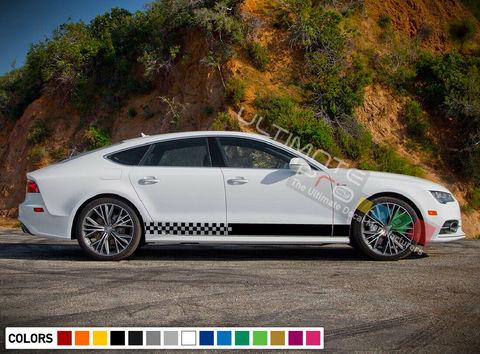 グラフィック デカール ステッカー 車体用 / アウディ A7 2011 2012 2013 2014 2015 2016 2020 / サイドドア ストライプステッカー