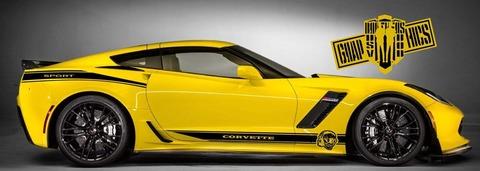 グラフィック デカール ステッカー 車体用 / シボレー コルベット 2005-2021 / ストライプ・ステッカー
