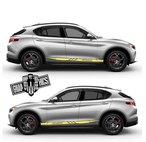 グラフィック デカール ステッカー 車体用 / アルファロメオ ステルヴィオ / ストライプ・ステッカー