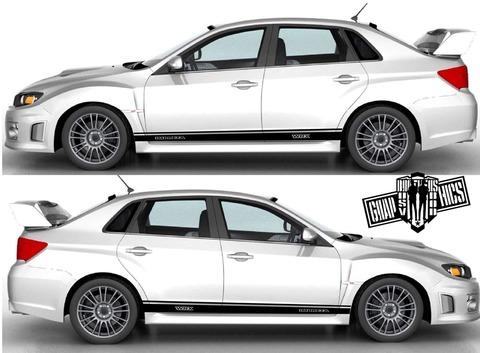 グラフィック デカール ステッカー 車体用 / スバル インプレッサ / サイドドア ストライプ カスタムキット・ステッカー
