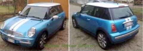 カスタム グラフィック ステッカー Mini ONE/クーパー R50 ストライプス   EMA MINI ONE COOPER STRISCE COFANO+ BAULE