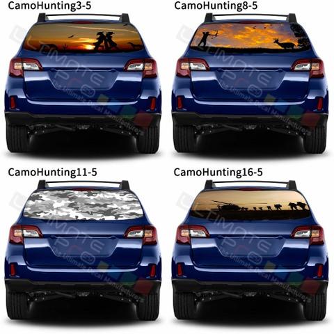 グラフィック デカール ステッカー 車体用 / スバル レガシィ アウトバック 2018 / リアウィンドウ カモハンティングデザイン