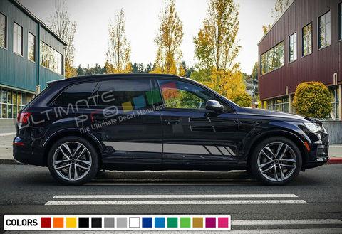 グラフィック デカール ステッカー 車体用 / アウディ Q7 / サイドドア ストライプステッカー