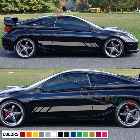 グラフィック デカール ステッカー 車体用 / トヨタ セリカ 2000 2001 2006 VVTI / サイドドア ストライプステッカー