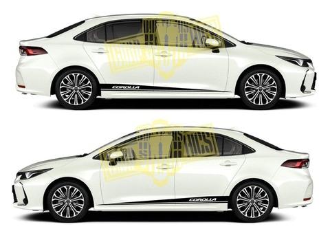 グラフィック デカール ステッカー 車体用 / トヨタ カローラ / 2X ストライプ・ステッカー