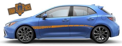 グラフィック デカール ステッカー 車体用 / トヨタ カローラ 2000-2021 / ライン ストライプ・ステッカー