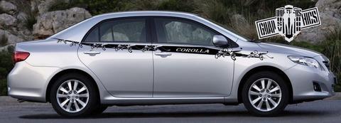 グラフィック デカール ステッカー 車体用 / トヨタ カローラ 2000-2022 / カスタム ストライプ グラフィックキット・ステッカー