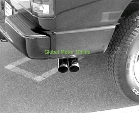 ダッジ ラムトラック Ram 1500 メガ ショートベッド 06-08 ギブソン Dual Sport サイド マフラー 6545