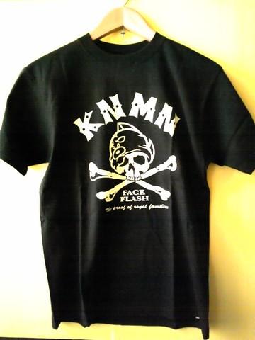 キン肉マンTシャツ  【フェイスフラッシュ】-BLACK-
