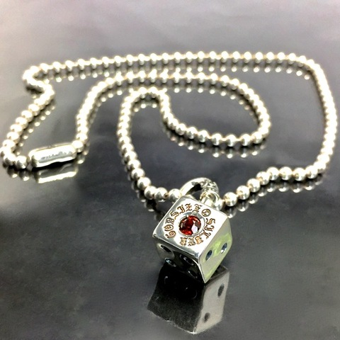 BALL CHAIN [DICE] w/GARNET