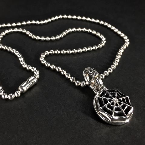 BALL CHAIN [SPIDER WEB] w/DIAMOND PENDANT