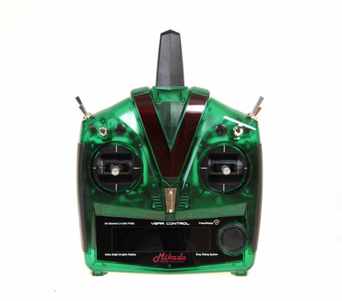 VBar Control Radio, green with RX-satellite, transparent