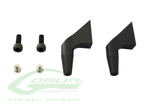 H0183BM-S - Aluminum Main Blade Grip Arm (New Design) Black Matte - Goblin 700/770