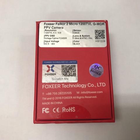 Foxeer Micro Falkor 2 1200TVL FPV Camera PAL/NTSC 16:9/4:3 GWDR No Freeze BLACK