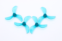 NewBeeDrone Colored Azi Micro Props - 0.8mm Shaft (Set of 4) Teal