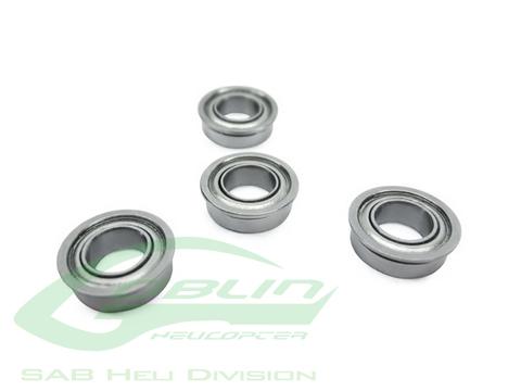 HC400-S - ABEC-5 Flanged bearing Ø2,5 x Ø6 x 2,6(4pcs) - Goblin 500/570/770/ HPS 630/700