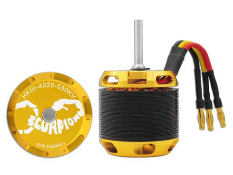 Scorpion HKIII-4025-550KV 6mm                       ゴブリン570 12セル用
