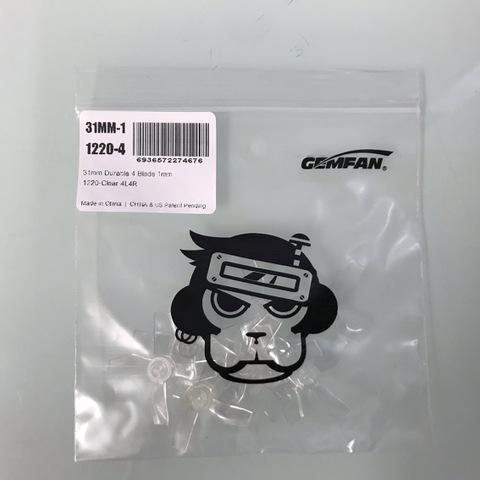 GEMFAN 31mm  4Blade 1mm 1220-CLEAR  4L4R