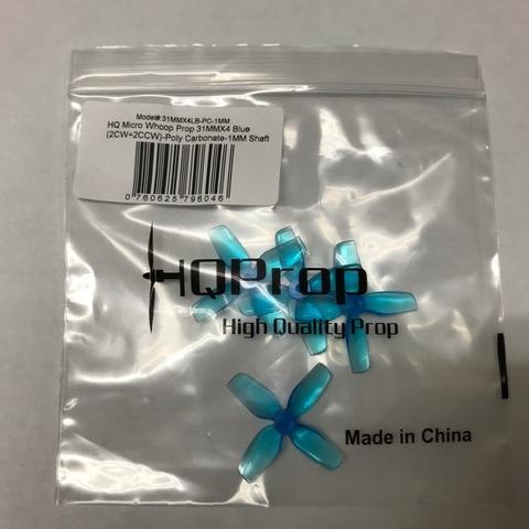 HQ Micro Whoop Prop 31×4 Blue 1mm-Shaft
