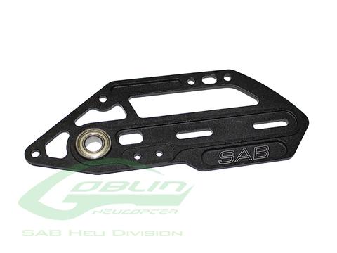 H0359BM-S - Aluminum Tail Side Plate Black Matte - Goblin Black Nitro/Black Thunder